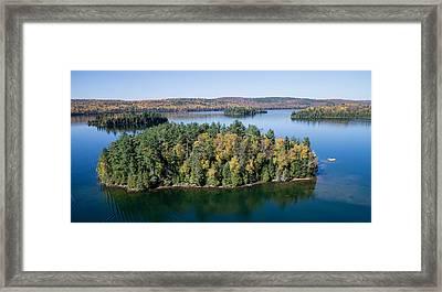 Big Cedar Lake. Quebec Framed Print