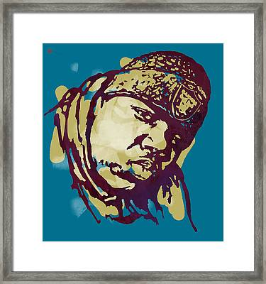 Biggie Smalls Modern Colour Etching Art  Poster Framed Print
