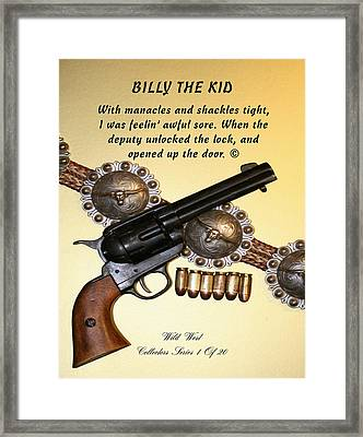 Billy The Kid 1 Of 20 Framed Print