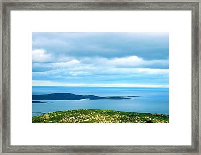 Bird's-eye View From Cadillac Mountain Acadia National Park Framed Print