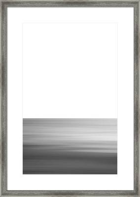 Black And White Abstract Seascape No. 02 Framed Print