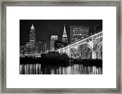 Black And White Cleveland Framed Print