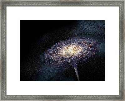 Black Hole Framed Print by Henning Dalhoff