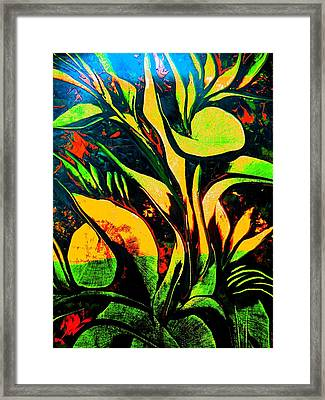 Framed Print featuring the painting Black Moments by Nico Bielow