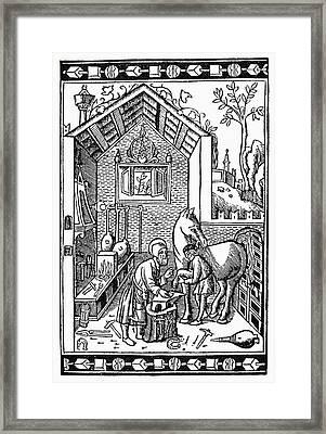 Blacksmith, C1250 Framed Print by Granger
