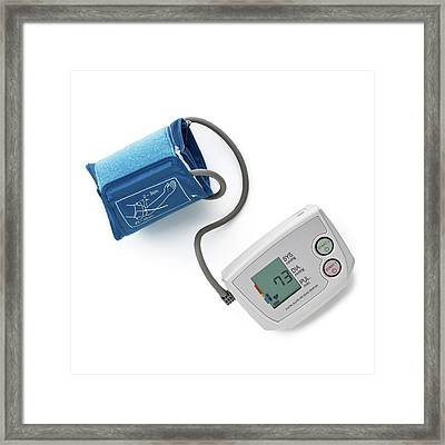 Blood Pressure Measurement Framed Print by Science Photo Library