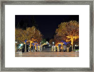 Blue And Gold Sather Gate Framed Print
