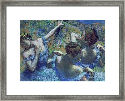 Blue Dancers Framed Print