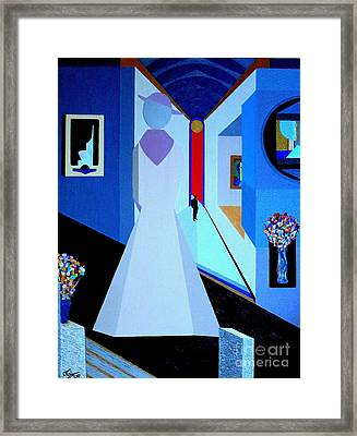 blue d'Orsay Framed Print