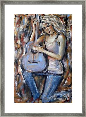 Blue Guitar 010709 Framed Print