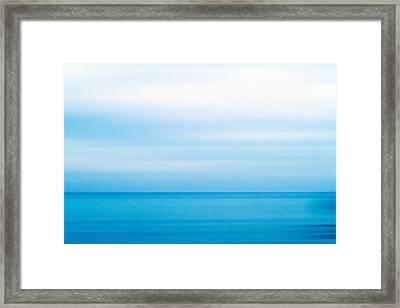 Blue Mediterranean Framed Print by Stelios Kleanthous