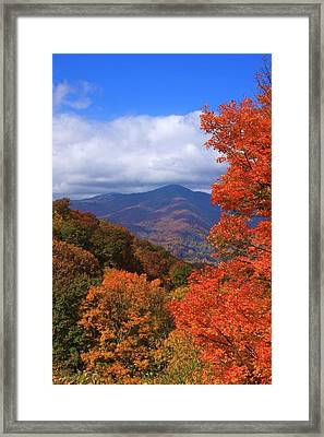 Blue Ridge Fall Framed Print