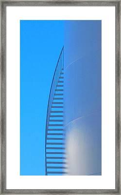 Blue Stairs Framed Print by John King