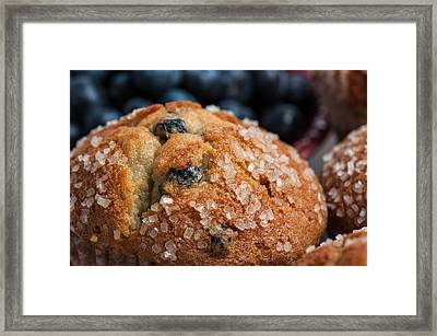 Blueberry Muffins Framed Print by Brandon Bourdages