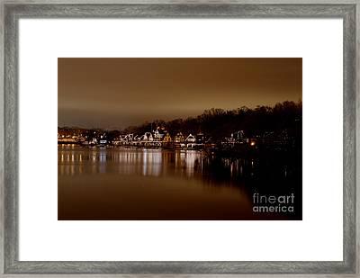Boathouse Row Framed Print by Mark Ayzenberg