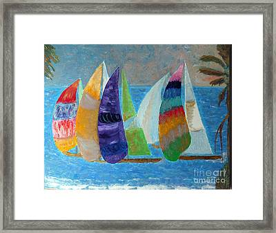Boats At Sunset 1 Framed Print