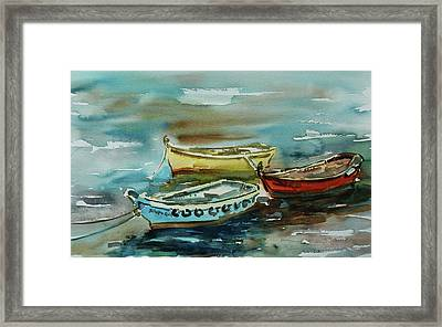 3 Boats II Framed Print by Xueling Zou