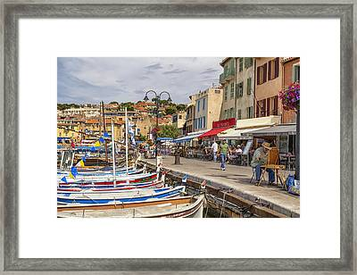 Cassis Harborside  Framed Print