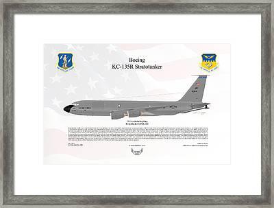 Boeing Kc-135r Stratotanker Framed Print by Arthur Eggers