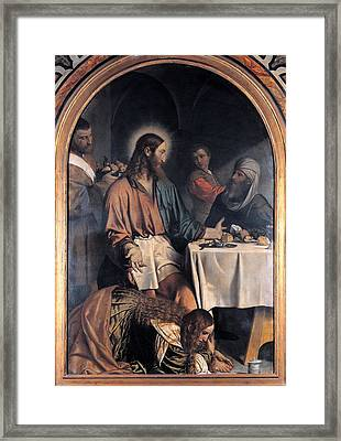 Bonvicino Alessandro Known As Moretto Framed Print