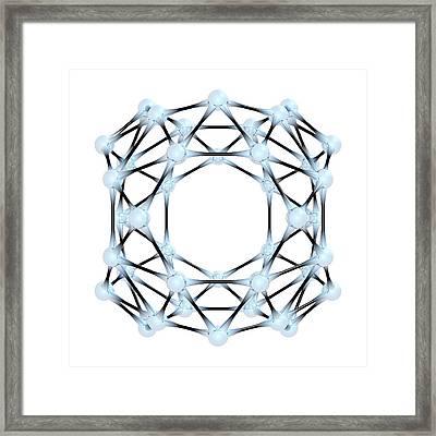 Borospherene Molecule Framed Print by Dr Mark J. Winter