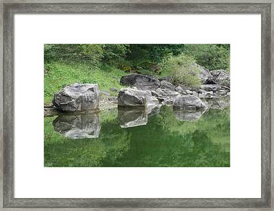3 Boulders 6 Boulders Framed Print by Phoenix De Vries