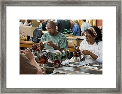 Bourbon Bottling Production Line Framed Print