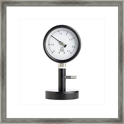 Bourdon Pressure Gauge Framed Print by Science Photo Library
