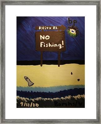 Bp Oil Spill Framed Print by Bamhs Blair