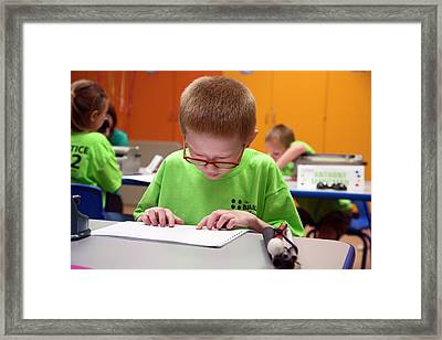 Braille Competition Framed Print