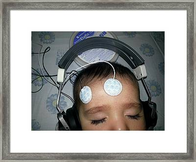Brainstem Evoked Response Audiometry Framed Print by Photostock-israel