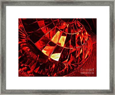 Brake Light 12 Framed Print by Sarah Loft
