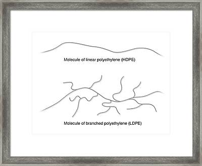 Branched And Linear Polyethylene Framed Print by Mikkel Juul Jensen