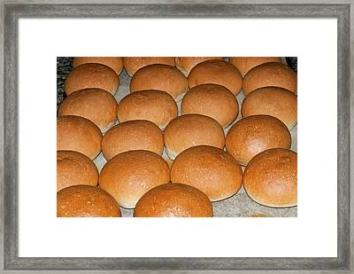 Bread (panini), Italian Cooking, Italy Framed Print by Nico Tondini
