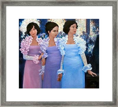 Brides Maids Framed Print