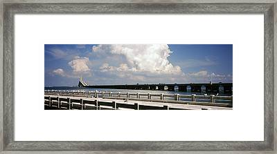 Bridge Across A Bay, Sunshine Skyway Framed Print