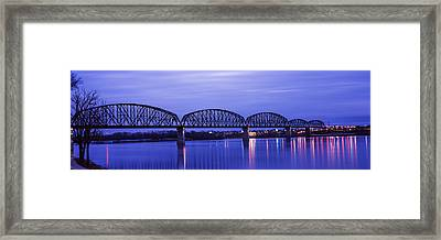 Bridge Across A River, Big Four Bridge Framed Print by Panoramic Images