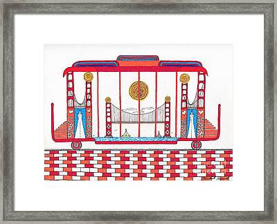 3 Bridges And Cable Car Framed Print by Michael Friend