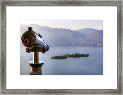 Brissago Islands Framed Print by Joana Kruse