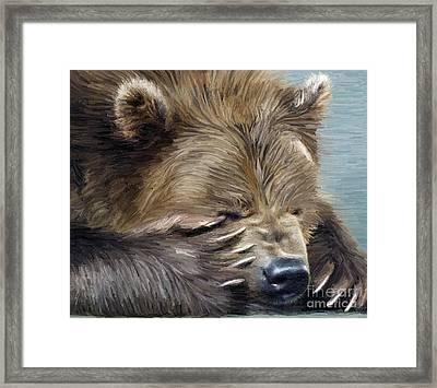 Brown Bear Framed Print by Aleksey Tugolukov