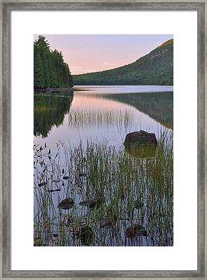 Bubble Pond Dawn Reflections Framed Print by Stephen  Vecchiotti