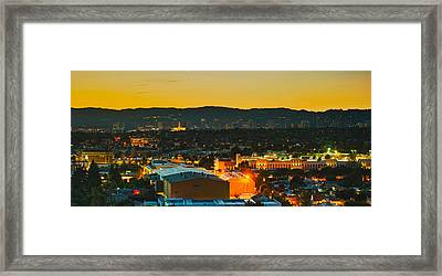 Buildings In A City, Los Angeles Framed Print by Panoramic Images