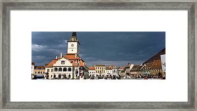 Buildings In A City, Town Center Framed Print