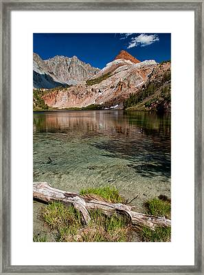 Bull Lake And Chocolate Peak Framed Print