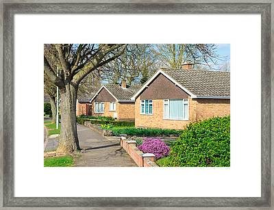 Bungalows Framed Print by Tom Gowanlock