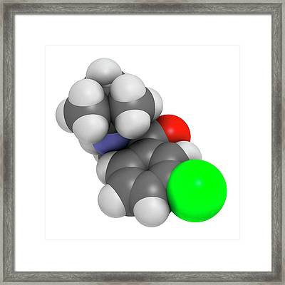 Bupropion Antidepressant Drug Framed Print by Molekuul