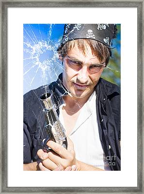 Burglar Framed Print by Jorgo Photography - Wall Art Gallery