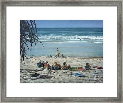 Burleigh Beach 220909 Framed Print