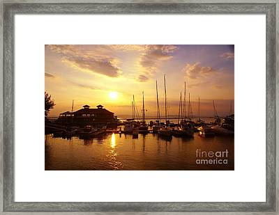 Burlington Boat House.  Framed Print
