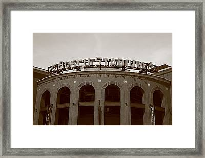 Busch Stadium - St. Louis Cardinals Framed Print by Frank Romeo